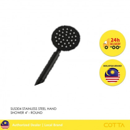 COTTA ICONIA STAINLESS STEEL HAND SHOWER 4'' ROUND BLACK [READY STOCK]